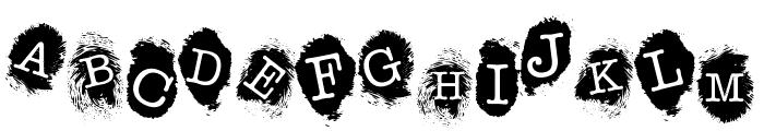 Fingerprints Inside Font UPPERCASE