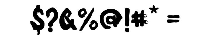 Fingerz-Filled Font OTHER CHARS