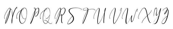 FiolenitaScript Font UPPERCASE