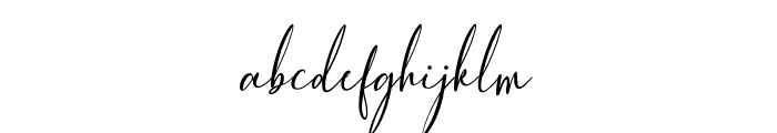 FiolenitaScript Font LOWERCASE