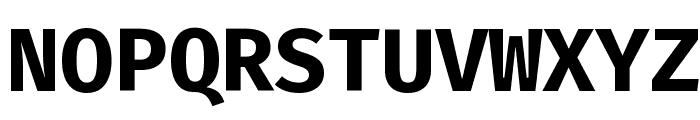 Fira Mono Bold Font UPPERCASE
