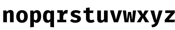 Fira Mono Bold Font LOWERCASE