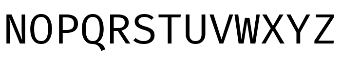 Fira Mono Regular Font UPPERCASE