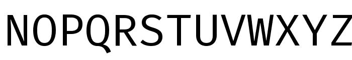 Fira Mono Font UPPERCASE