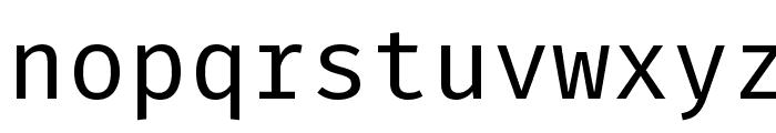 Fira Mono Font LOWERCASE