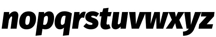 Fira Sans Black Italic Font LOWERCASE