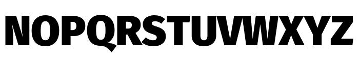 Fira Sans Black Font UPPERCASE