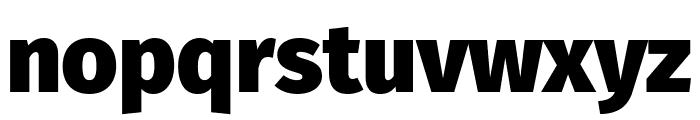 Fira Sans Black Font LOWERCASE