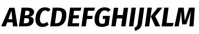 Fira Sans Bold Italic Font UPPERCASE