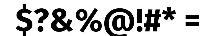 Fira Sans Bold Font OTHER CHARS