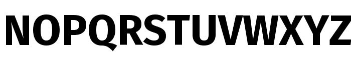 Fira Sans Bold Font UPPERCASE