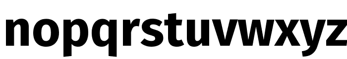 Fira Sans Bold Font LOWERCASE