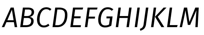 Fira Sans Book Italic Font UPPERCASE