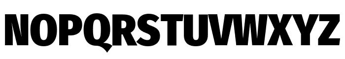 Fira Sans Condensed Black Font UPPERCASE
