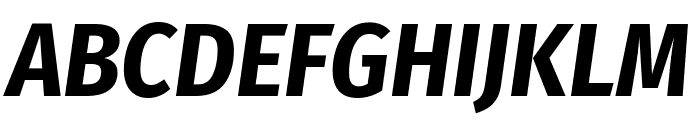 Fira Sans Condensed Bold Italic Font UPPERCASE