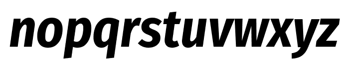 Fira Sans Condensed Bold Italic Font LOWERCASE