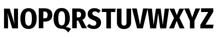 Fira Sans Condensed Bold Font UPPERCASE