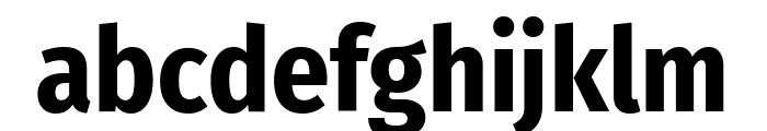 Fira Sans Condensed Bold Font LOWERCASE