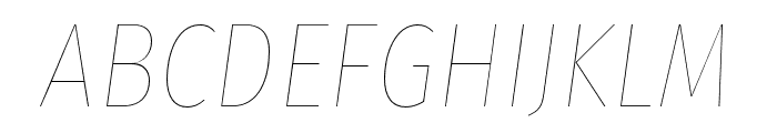 Fira Sans Condensed Eight Italic Font UPPERCASE