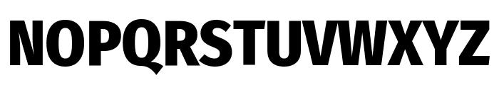 Fira Sans Condensed ExtraBold Font UPPERCASE