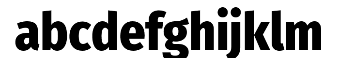 Fira Sans Condensed ExtraBold Font LOWERCASE