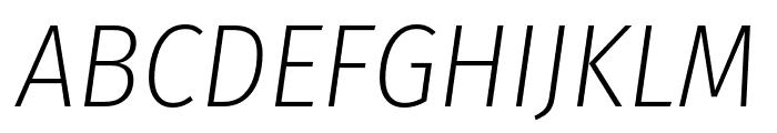 Fira Sans Condensed ExtraLight Italic Font UPPERCASE