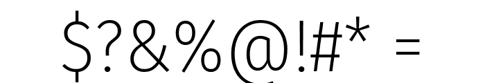 Fira Sans Condensed ExtraLight Font OTHER CHARS