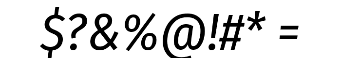 Fira Sans Condensed Italic Font OTHER CHARS