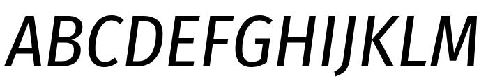 Fira Sans Condensed Italic Font UPPERCASE