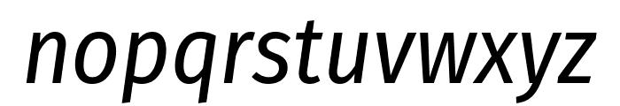 Fira Sans Condensed Italic Font LOWERCASE