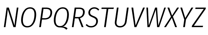 Fira Sans Condensed Light Italic Font UPPERCASE