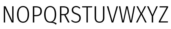 Fira Sans Condensed Light Font UPPERCASE