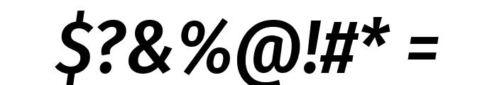 Fira Sans Condensed Medium Italic Font OTHER CHARS