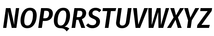 Fira Sans Condensed Medium Italic Font UPPERCASE