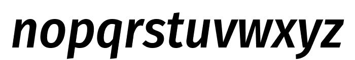 Fira Sans Condensed Medium Italic Font LOWERCASE