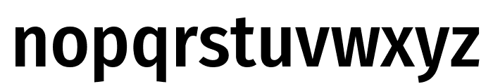 Fira Sans Condensed Medium Font LOWERCASE