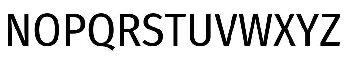 Fira Sans Condensed Regular Font UPPERCASE