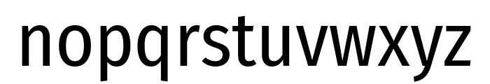 Fira Sans Condensed Regular Font LOWERCASE