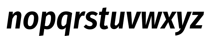 Fira Sans Condensed SemiBold Italic Font LOWERCASE