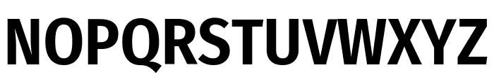 Fira Sans Condensed SemiBold Font UPPERCASE