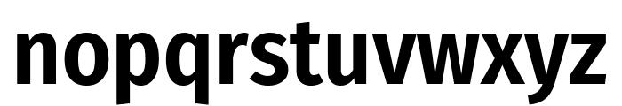 Fira Sans Condensed SemiBold Font LOWERCASE