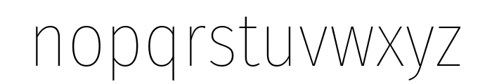 Fira Sans Condensed Thin Font LOWERCASE