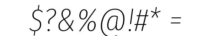 Fira Sans Condensed UltraLight Italic Font OTHER CHARS