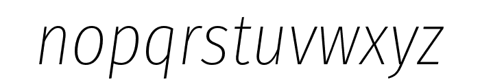 Fira Sans Condensed UltraLight Italic Font LOWERCASE