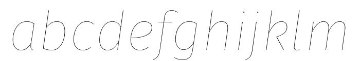 Fira Sans Eight Italic Font LOWERCASE