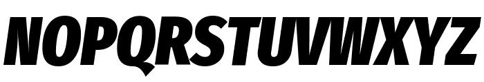 Fira Sans Extra Condensed Black Italic Font UPPERCASE