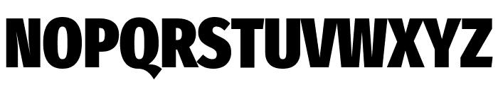 Fira Sans Extra Condensed Black Font UPPERCASE