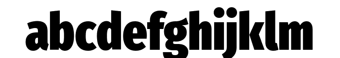 Fira Sans Extra Condensed Black Font LOWERCASE