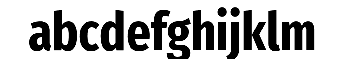 Fira Sans Extra Condensed Bold Font LOWERCASE