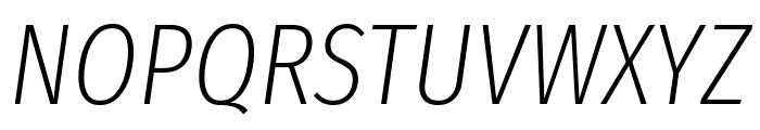 Fira Sans Extra Condensed ExtraLight Italic Font UPPERCASE